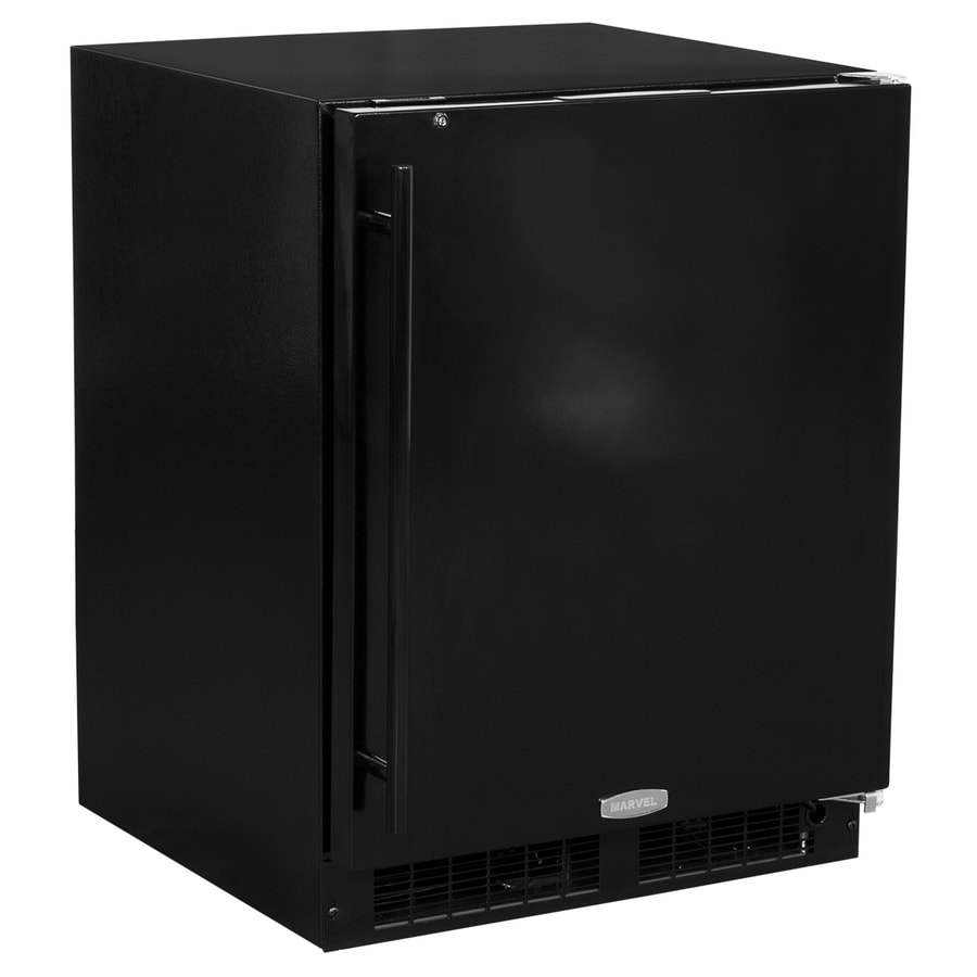 MARVEL Low Profile 4.6-cu ft Counter-Depth Built-In/Freestanding Compact Refrigerator (Black) ENERGY STAR