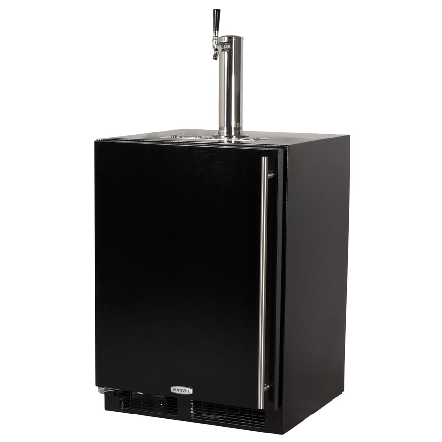 MARVEL Half-Barrel Keg Black Digital Built-In/Freestanding Kegerator