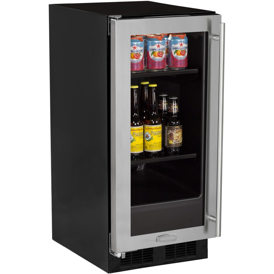 MARVEL 2.8-cu ft Stainless Steel Built-In/Freestanding Beverage Center