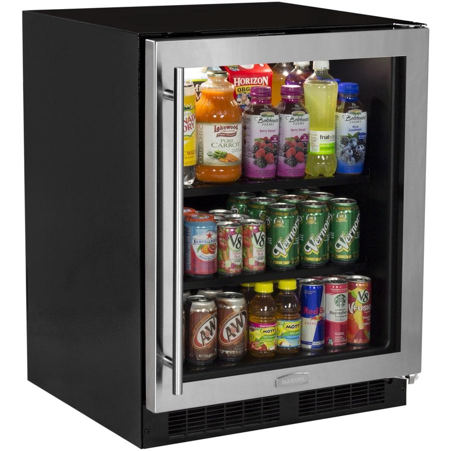 MARVEL Low-Profile 4.9-cu ft Stainless Steel Built-In/Freestanding Beverage Center