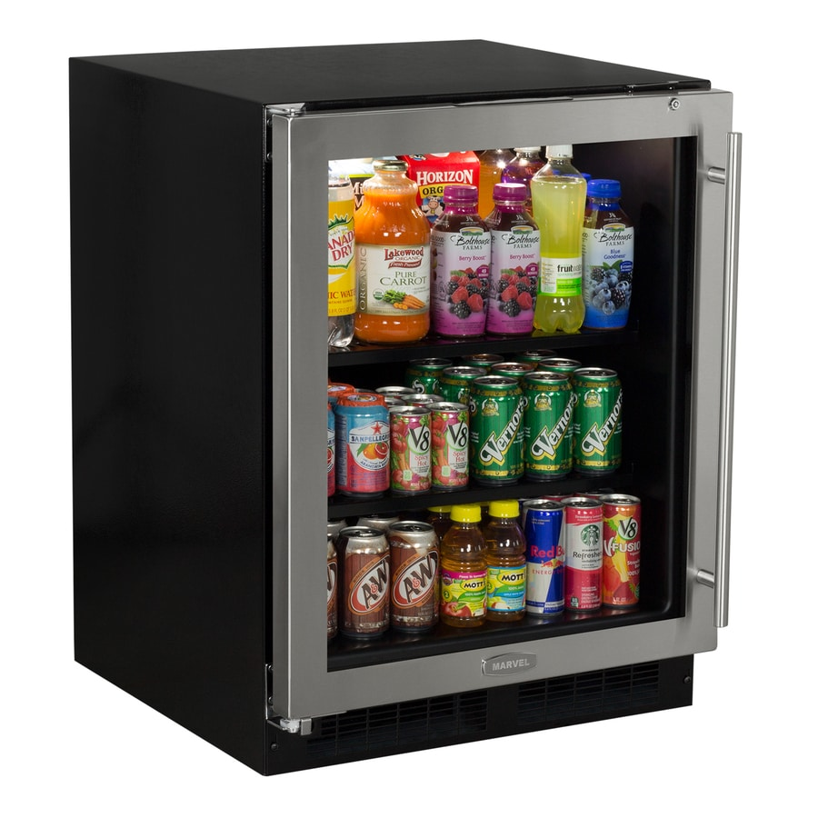 MARVEL Low-Profile 4.9-cu ft Stainless Steel Built-In/Freestanding Beverage Center