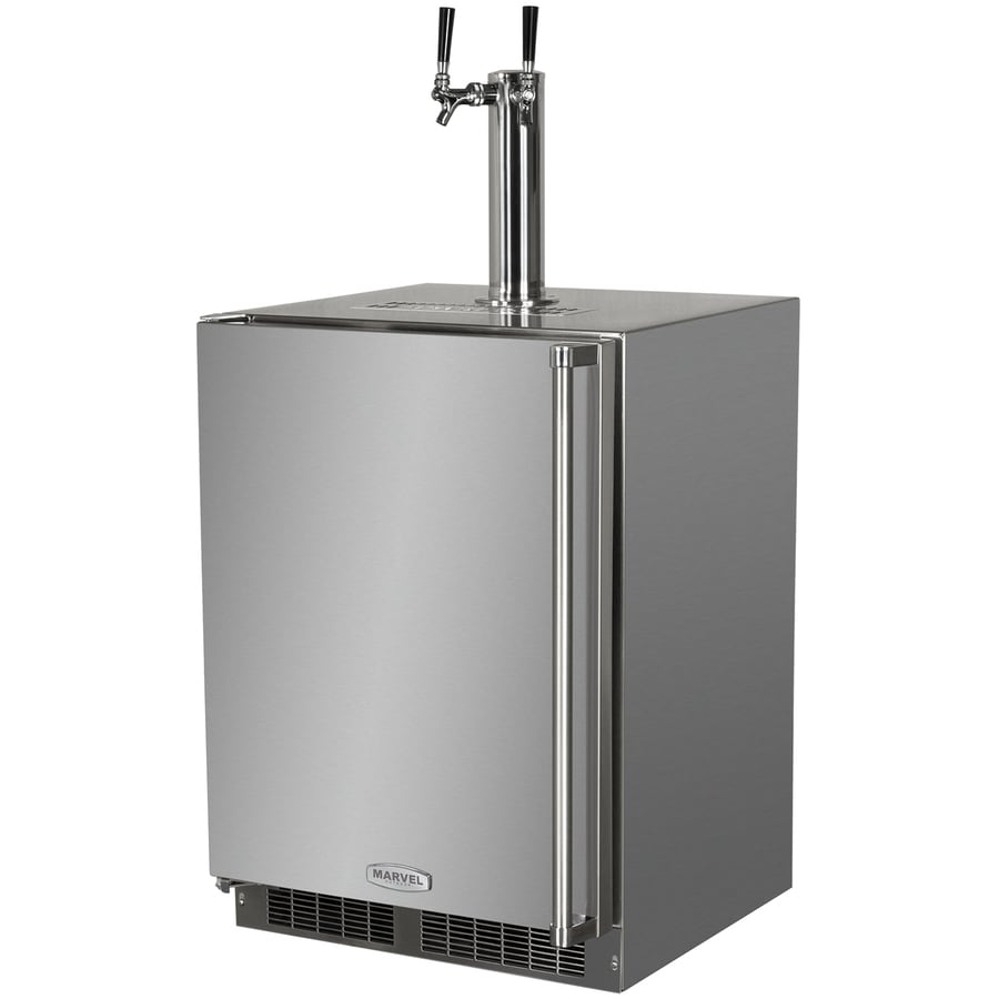 MARVEL Half-Barrel Keg Stainless Steel Digital Built-In/Freestanding Kegerator