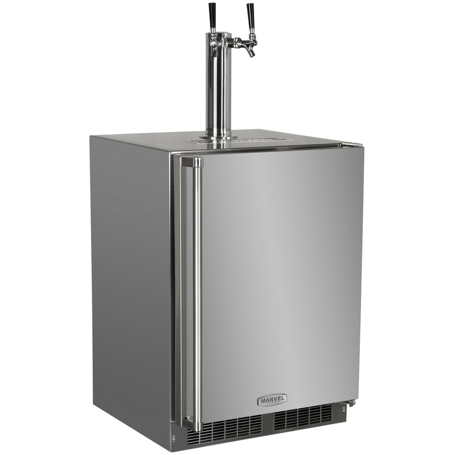 MARVEL Half-Barrel Keg Stainless Steel Digital Built-In/Freestanding Kegerator