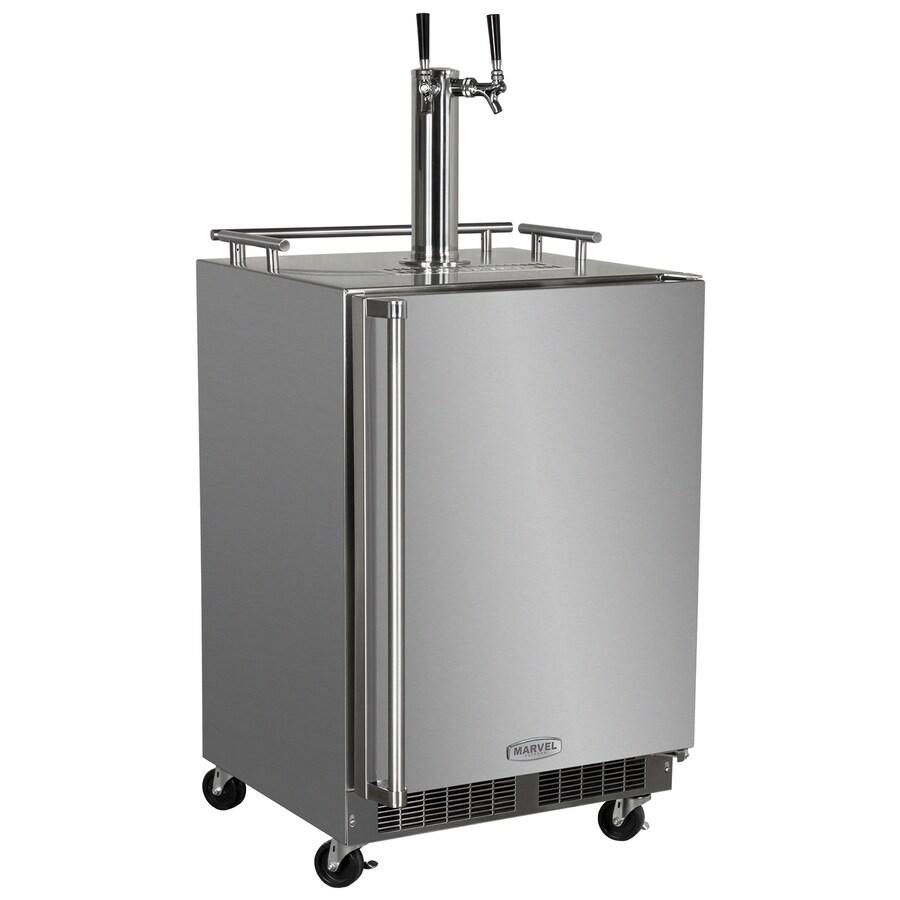 MARVEL Half-Barrel Keg Stainless Steel Digital Freestanding Kegerator