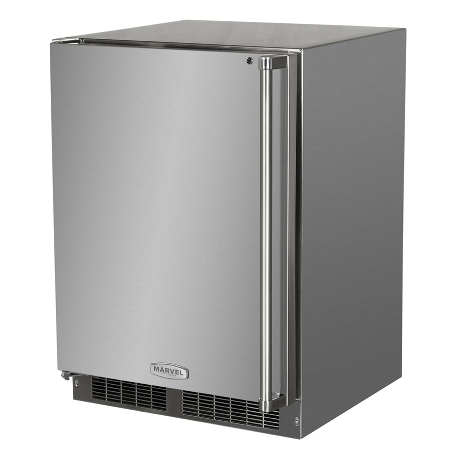 MARVEL Outdoor 5.3-cu ft Counter-Depth Built-In/Freestanding Compact Refrigerator (Stainless Steel) ENERGY STAR