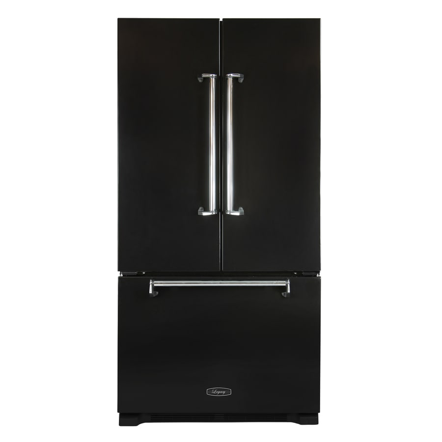 AGA Legacy 22.1-cu ft Counter-Depth French Door Refrigerator with Ice Maker (Black)