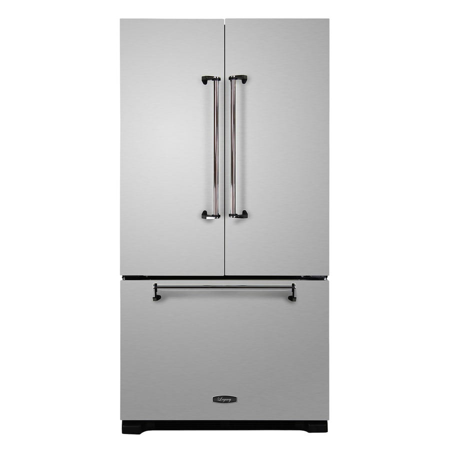AGA Legacy 22.6-cu ft Counter-Depth French Door Refrigerator with Single Ice Maker (Stainless Steel)