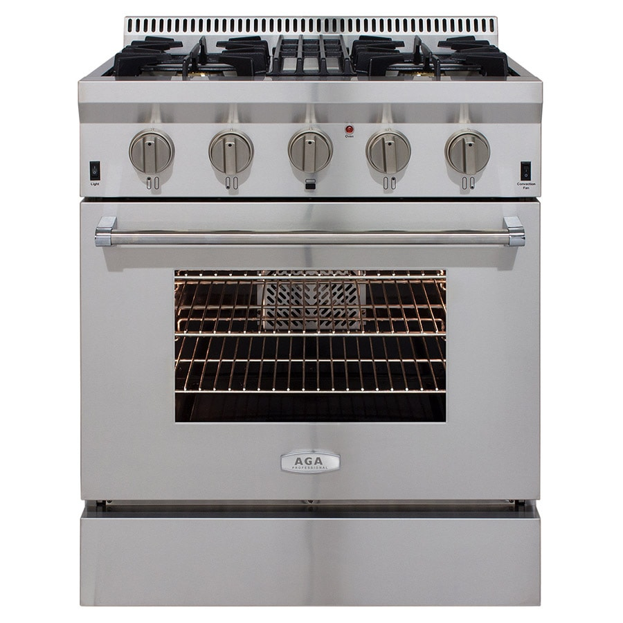 AGA Professional Freestanding 4.2-cu ft Convection Gas Range (Stainless steel) (Common: 30-in; Actual: 30-in)