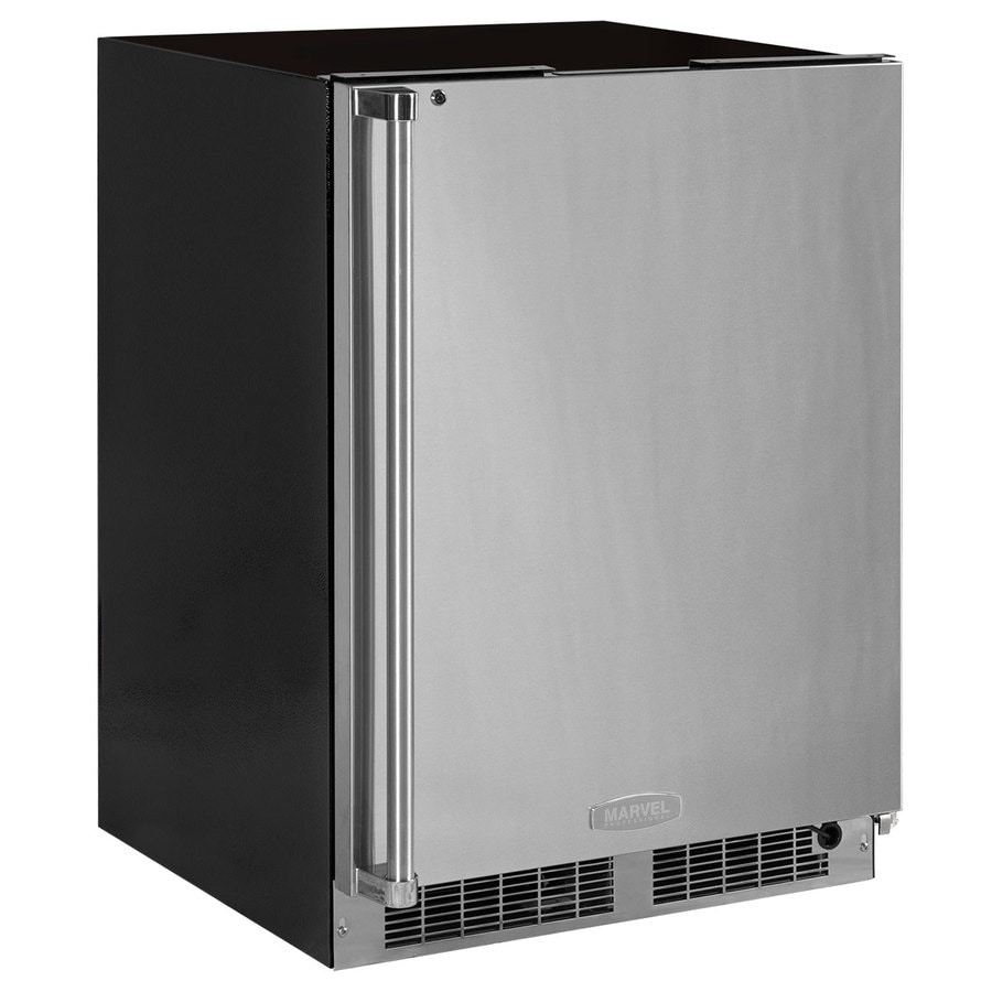 MARVEL Professional 4.6-cu ft Frost Free Upright Freezer (Stainless Steel) ENERGY STAR