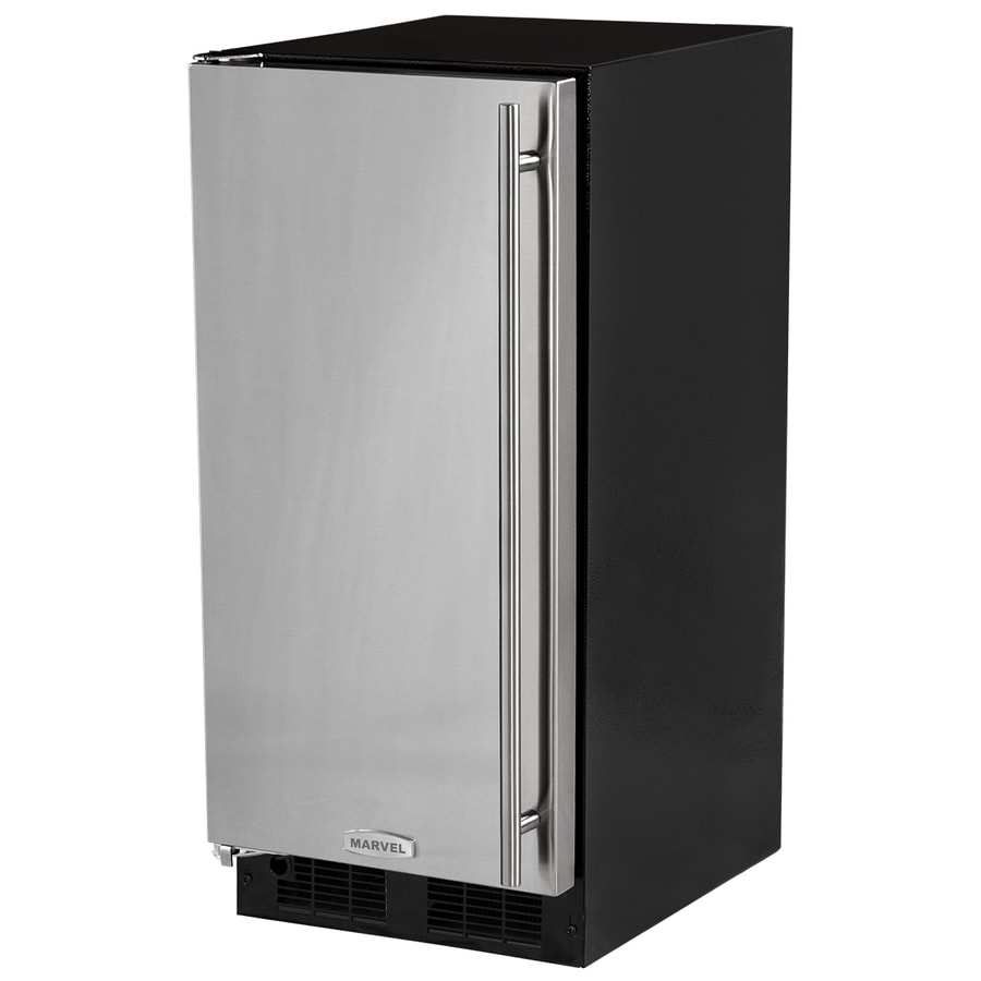 MARVEL 39-lb Freestanding/Built-in Ice Maker (Black Cabinet Stainless Steel Door)