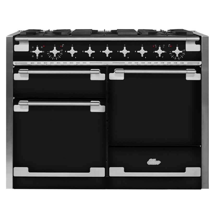 AGA Elise 48-in 5-Burner 2.8-cu ft/2.8-cu ft Double Oven Convection Dual Fuel Range (Gloss Black)