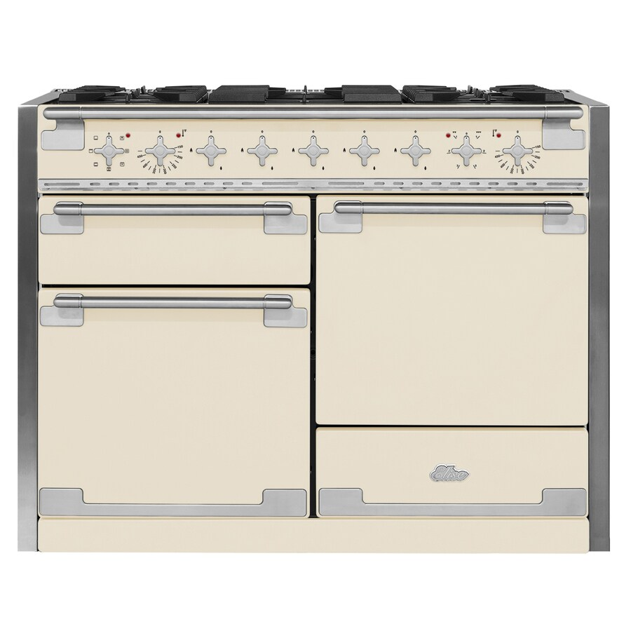 AGA Elise 48-in 5-Burner 2.8-cu ft/2.8-cu ft Double Oven Convection Dual Fuel Range (Ivory)