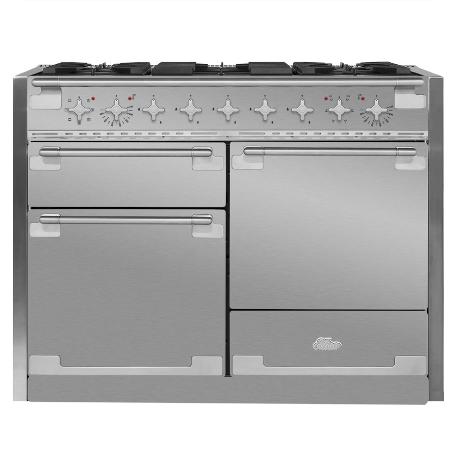 AGA Elise 48-in 5-Burner 2.8-cu ft/2.8-cu ft Double Oven Convection Dual Fuel Range (Stainless Steel)
