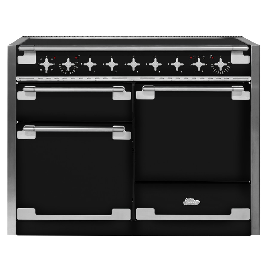 AGA Elise 5-Element 6.1-cu ft Freestanding True Convection Induction Range (Gloss Black) (Common: 48-in; Actual 47.5625-in)
