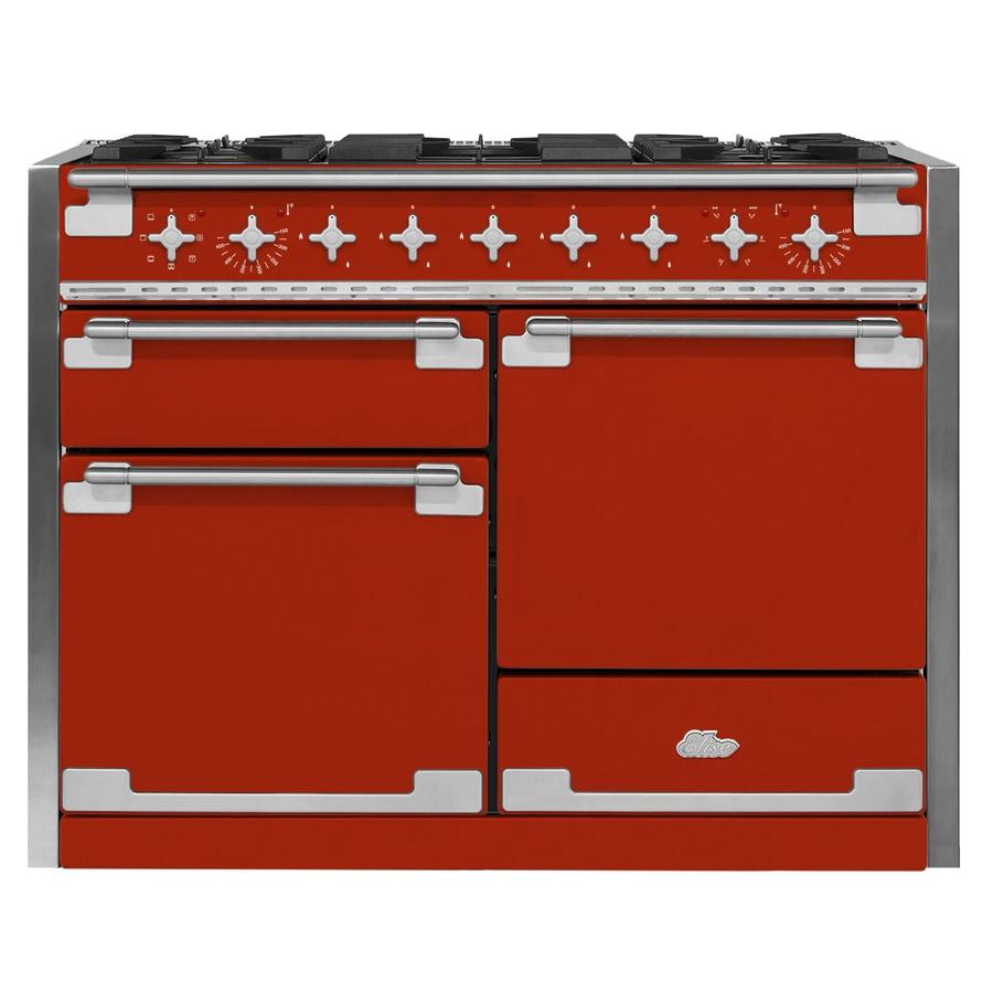 AGA Elise 48-in 5-Burner 2.8-cu ft/2.8-cu ft Double Oven Convection Dual Fuel Range (Scarlet)