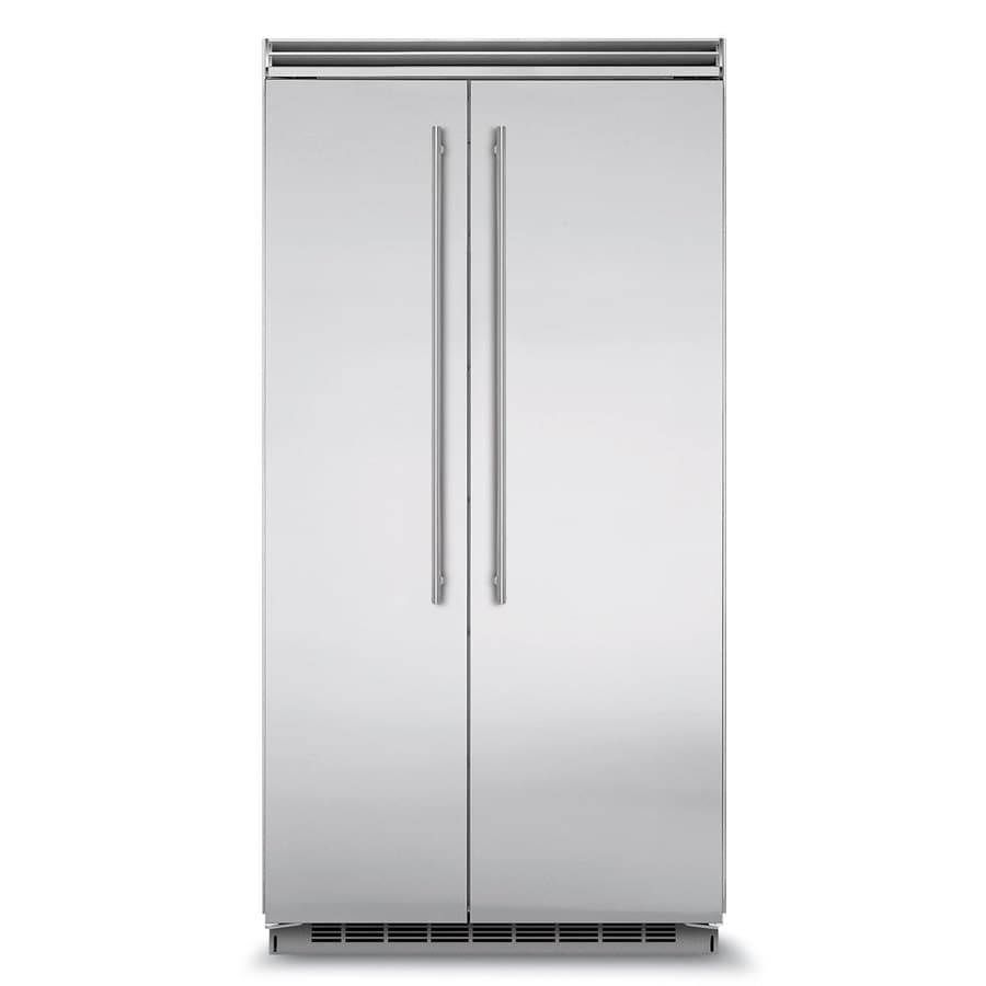 MARVEL Professional 25.32-cu ft Built-In Side-by-Side Refrigerator with Ice Maker (Stainless steel) ENERGY STAR