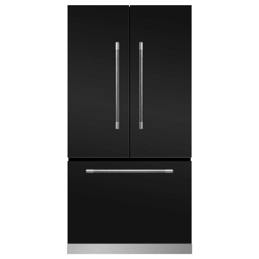 MARVEL Mercury 22.1-cu ft Counter-Depth French Door Refrigerator with Ice Maker (Matte Black)