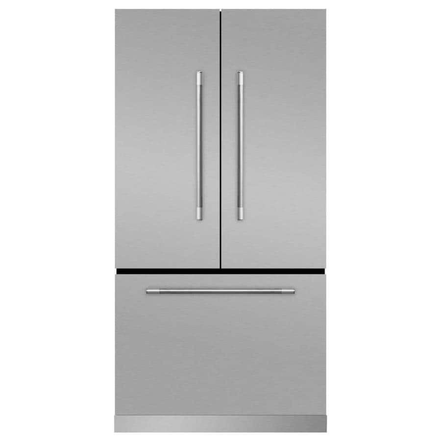MARVEL Mercury 22.1-cu ft Counter-Depth French Door Refrigerator with Ice Maker (Stainless Steel)