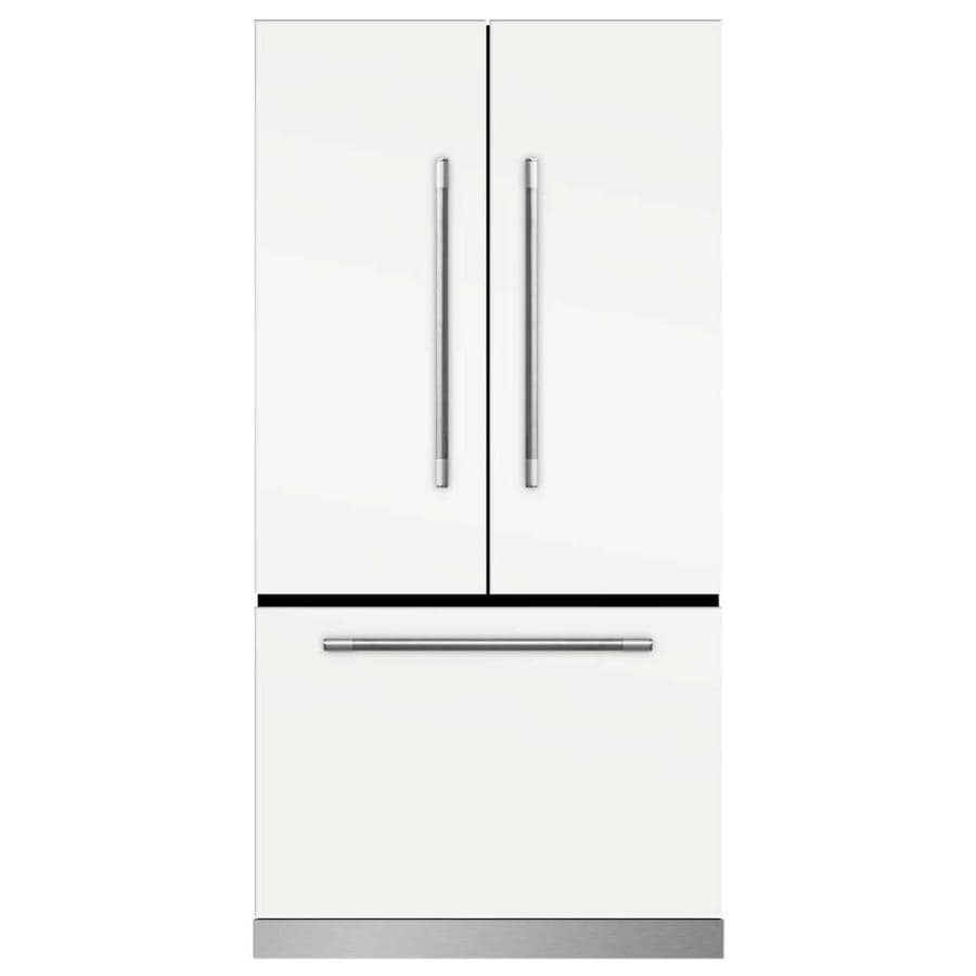 MARVEL Mercury 22.1-cu ft Counter-Depth French Door Refrigerator with Ice Maker (White)