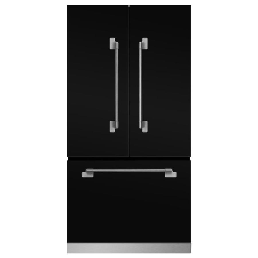 MARVEL Elise 22.1-cu ft Counter-Depth French Door Refrigerator with Ice Maker (Gloss black)