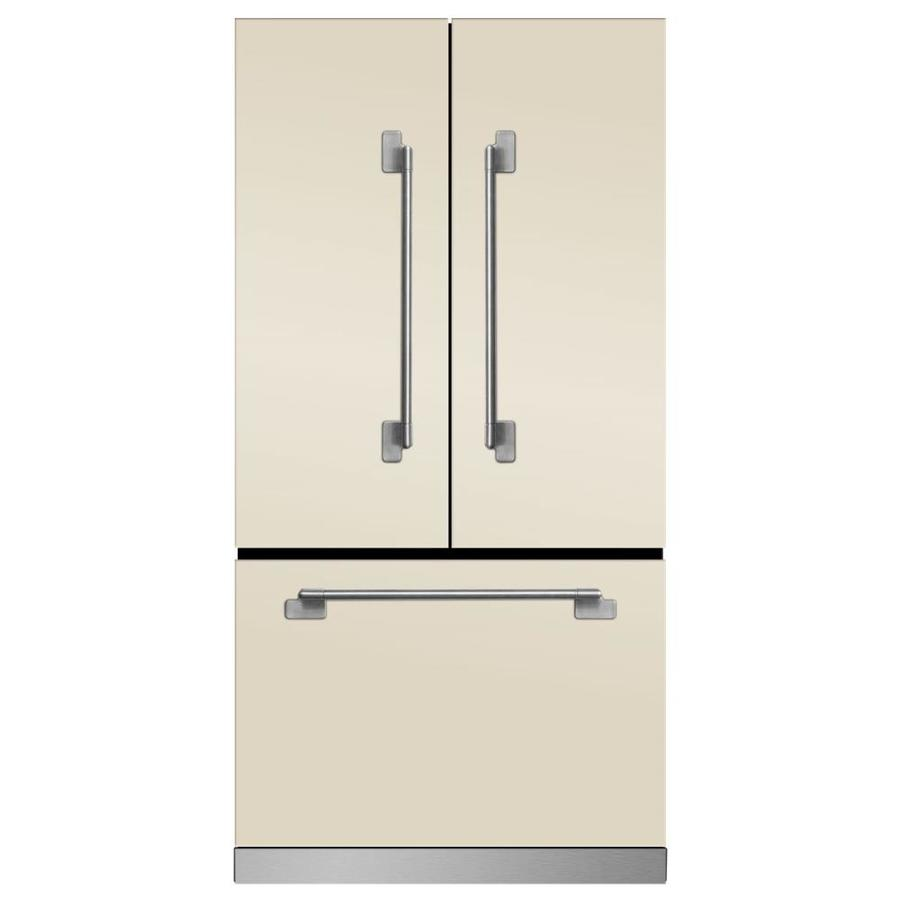 MARVEL Elise 22.1-cu ft Counter-Depth French Door Refrigerator with Ice Maker (Ivory)