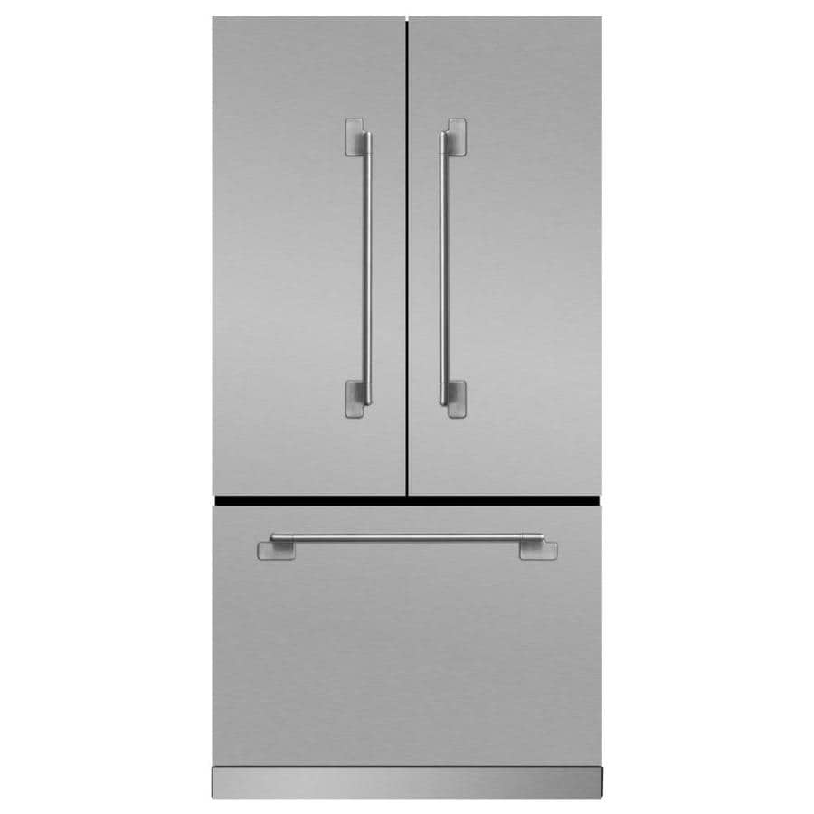 MARVEL Elise 22.1-cu ft Counter-Depth French Door Refrigerator with Ice Maker (Stainless steel)