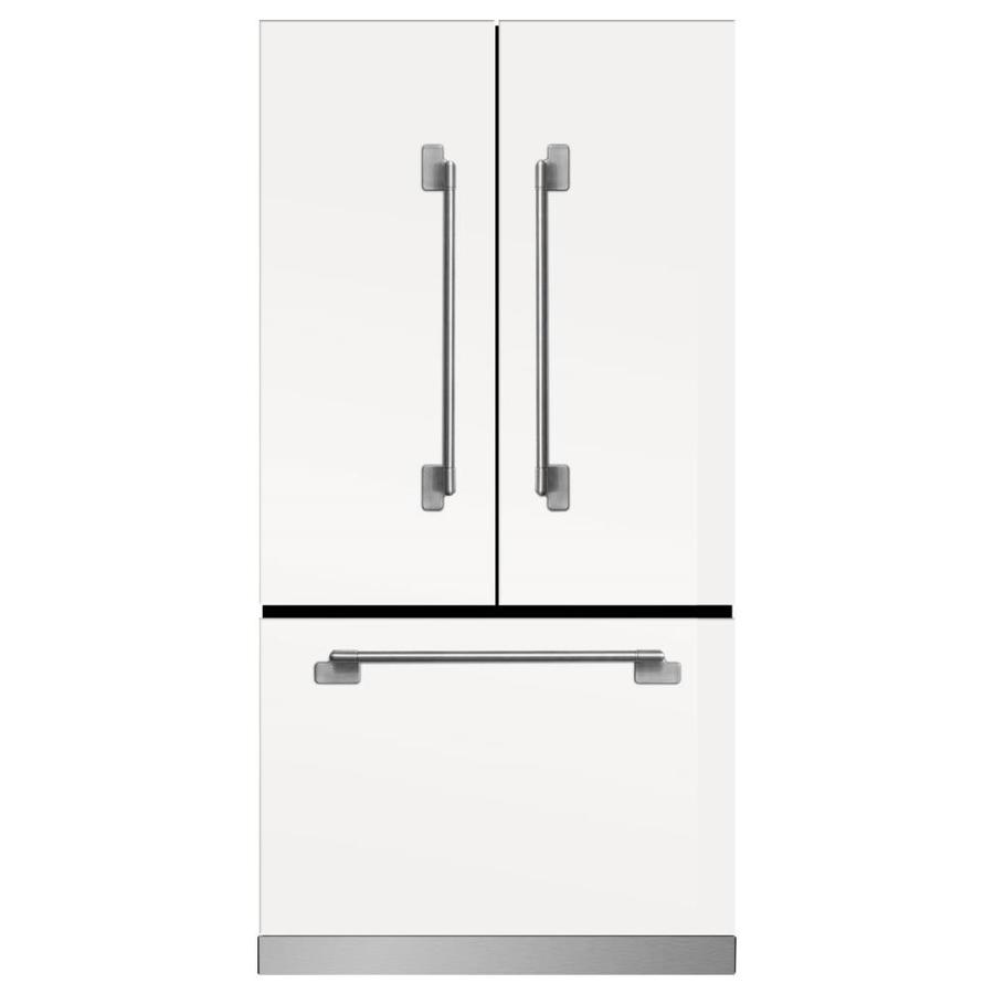 MARVEL Elise 22.1-cu ft Counter-Depth French Door Refrigerator with Ice Maker (White)