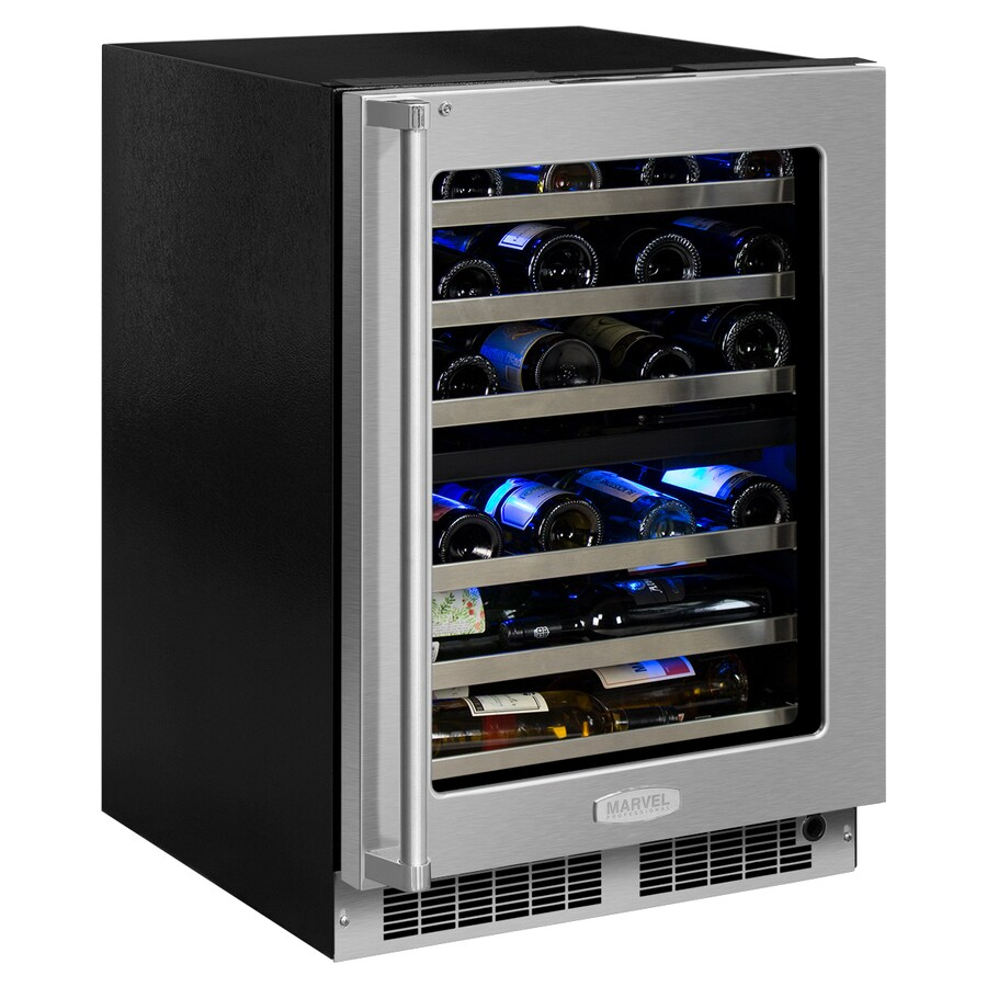 MARVEL Professional 40-Bottle Stainless Steel Dual Zone Wine Chiller