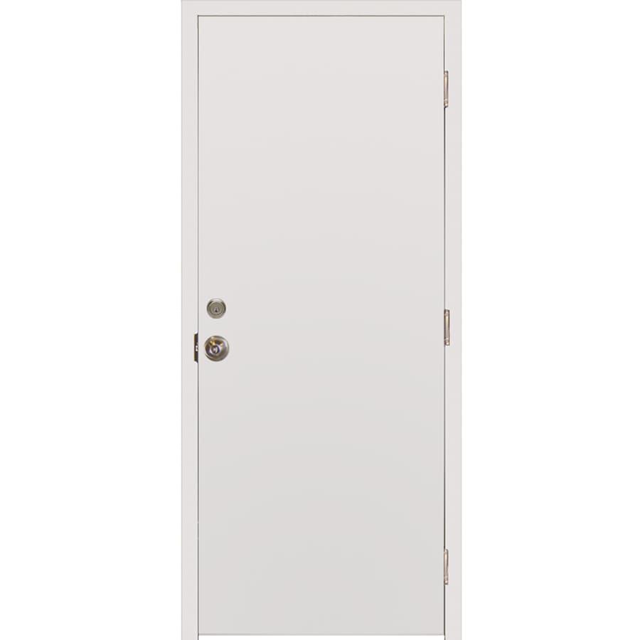 Milliken Millwork Primed Steel Surface Mount Security Door (Common: 36-in x 80-in; Actual: 38-in x 82.25-in)