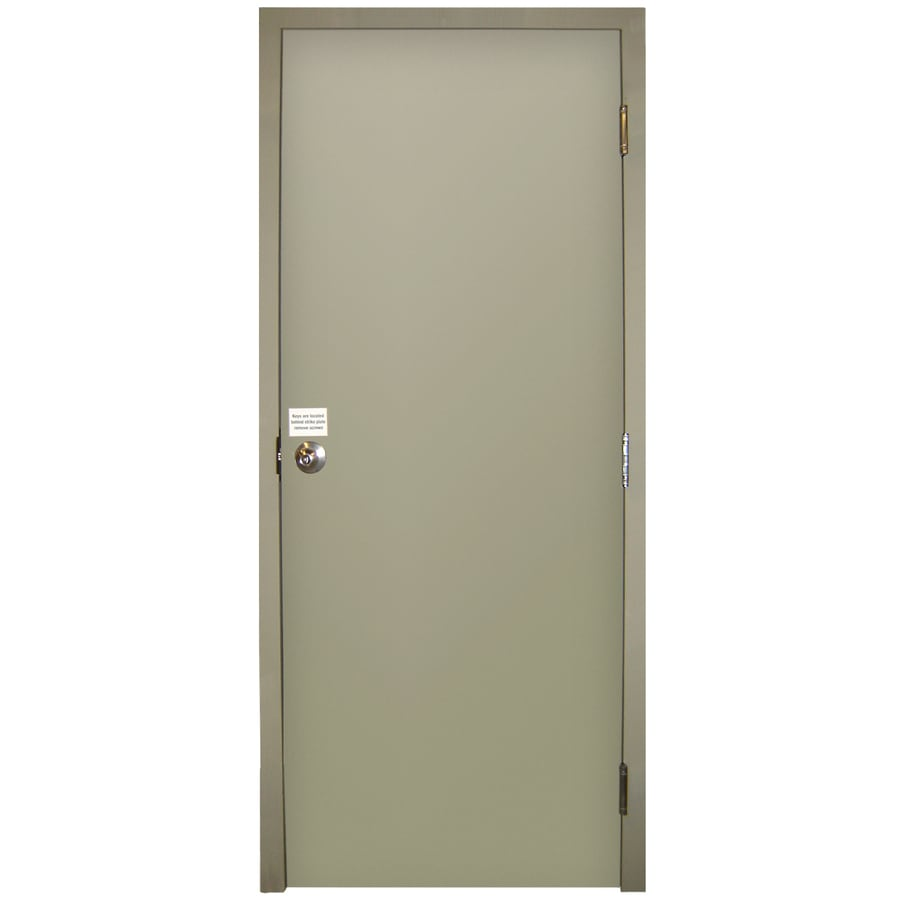 Milliken Flush Prehung Entry Door (Common: 32-in x 80-in; Actual: 32-in x 80-in)