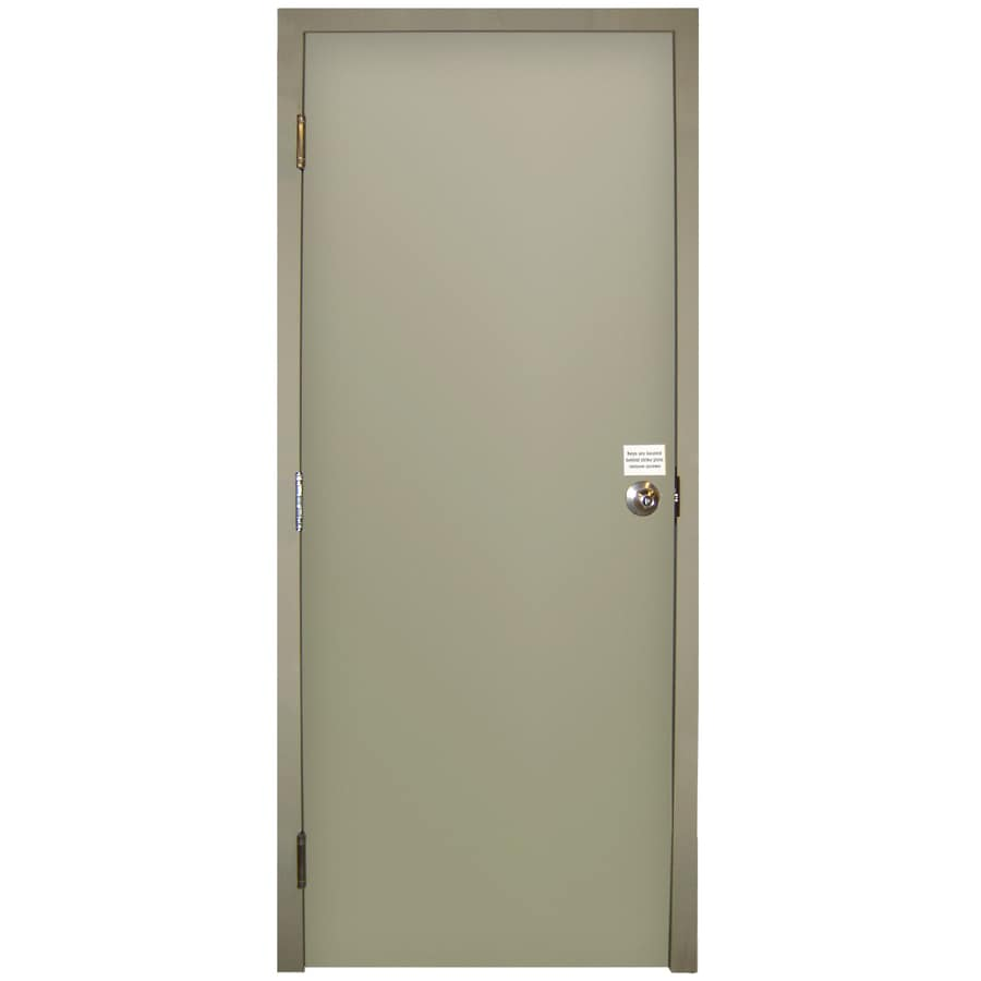 Milliken Flush Prehung Entry Door (Common: 34-in x 80-in; Actual: 34-in x 80-in)