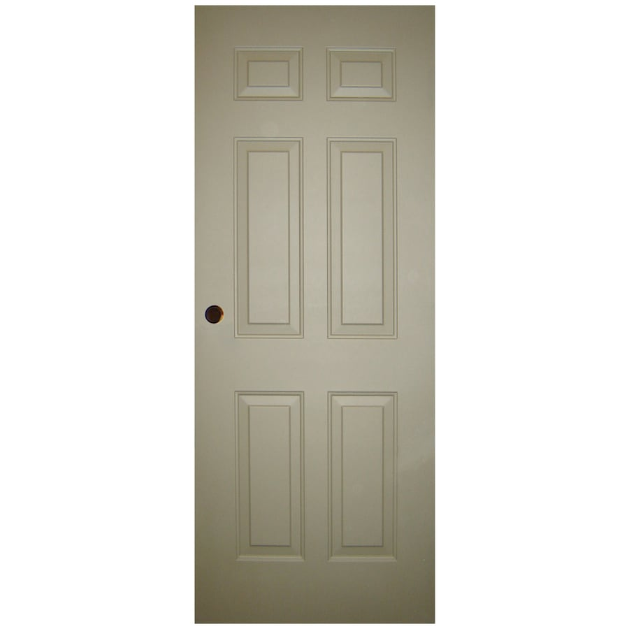 Milliken 6-Panel Slab Entry Door (Common: 32-in x 80-in; Actual: 32-in x 80-in)