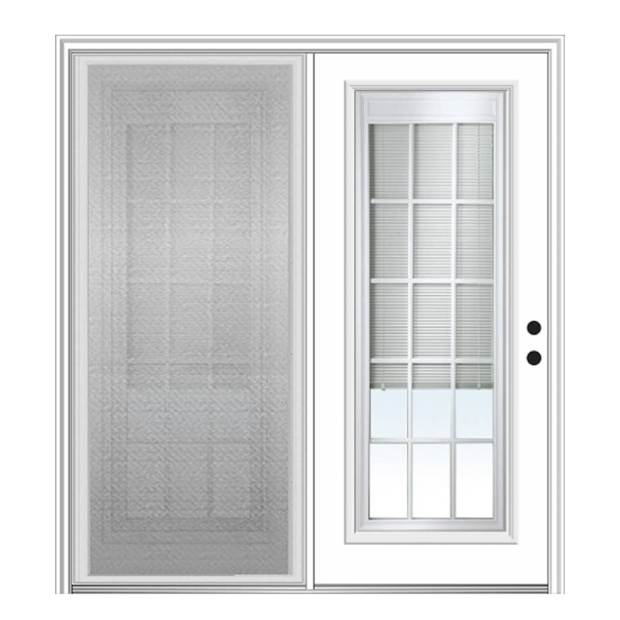 center hinged patio doors. MMI DOOR 67-in X 81.75-in Blinds Between The Glass Left-Hand Center Hinged Patio Doors