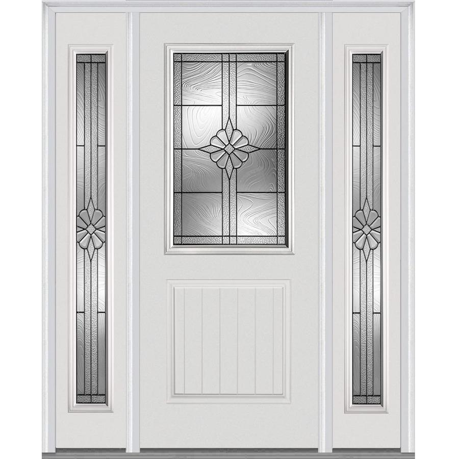 Shop Mmi Door Half Lite Decorative Glass Left Hand Inswing Primed