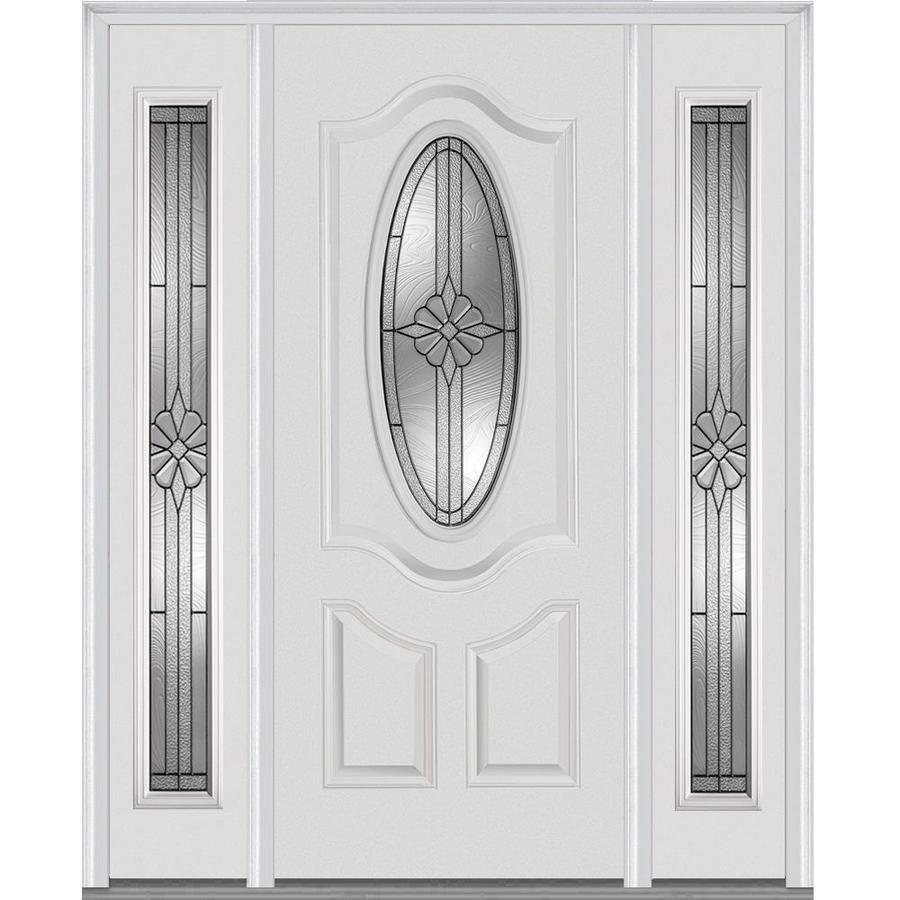 Mmi Door Oval Lite Decorative Glass Right Hand Inswing