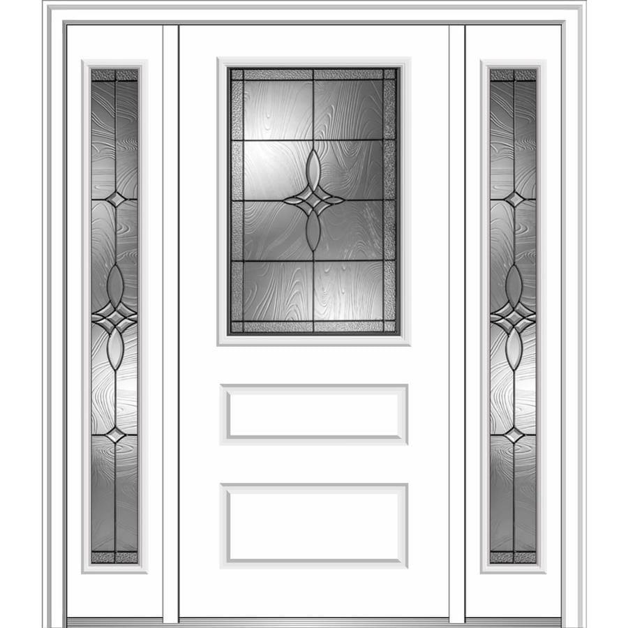 Insulation For Front Door: Shop MMI DOOR Half Lite Decorative Glass Right-Hand