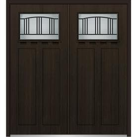 shop mmi door brown entry doors at lowes com