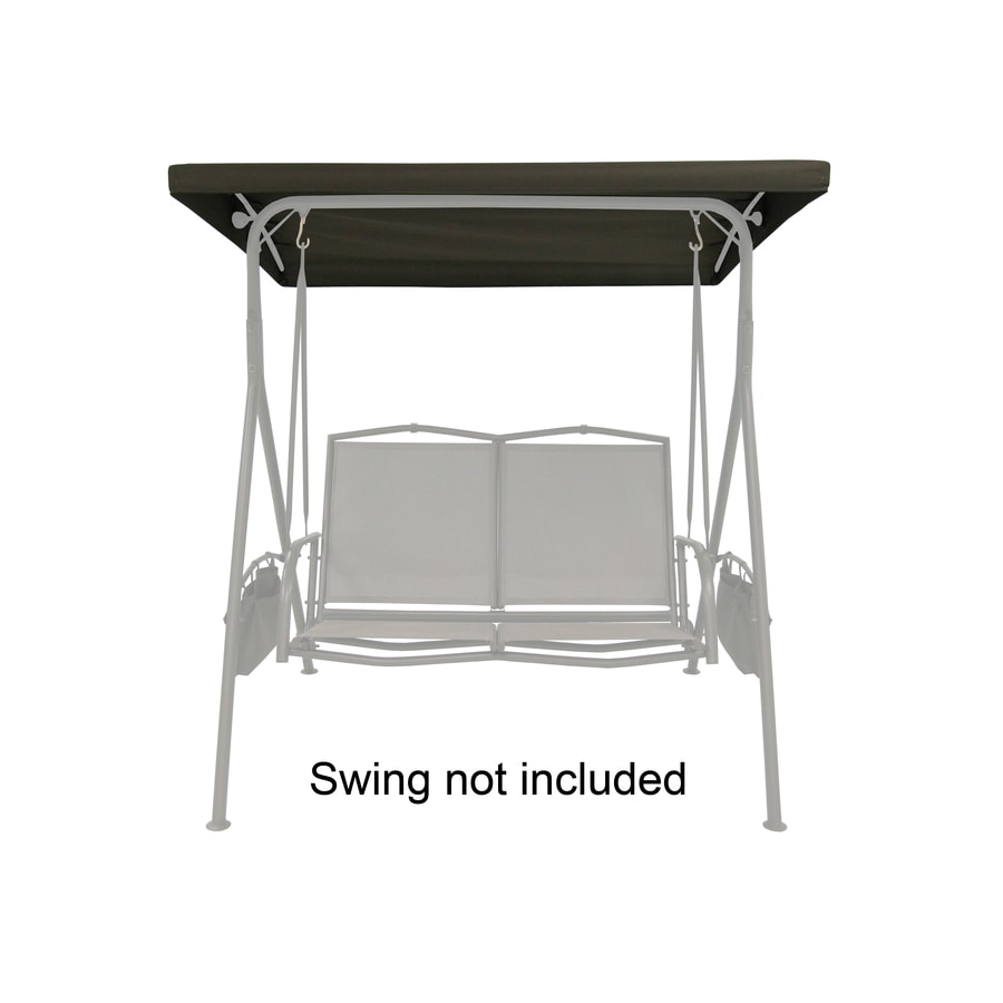 Garden Treasures Brown Steel 2-Person Replacement Top for Porch Swing or Glider