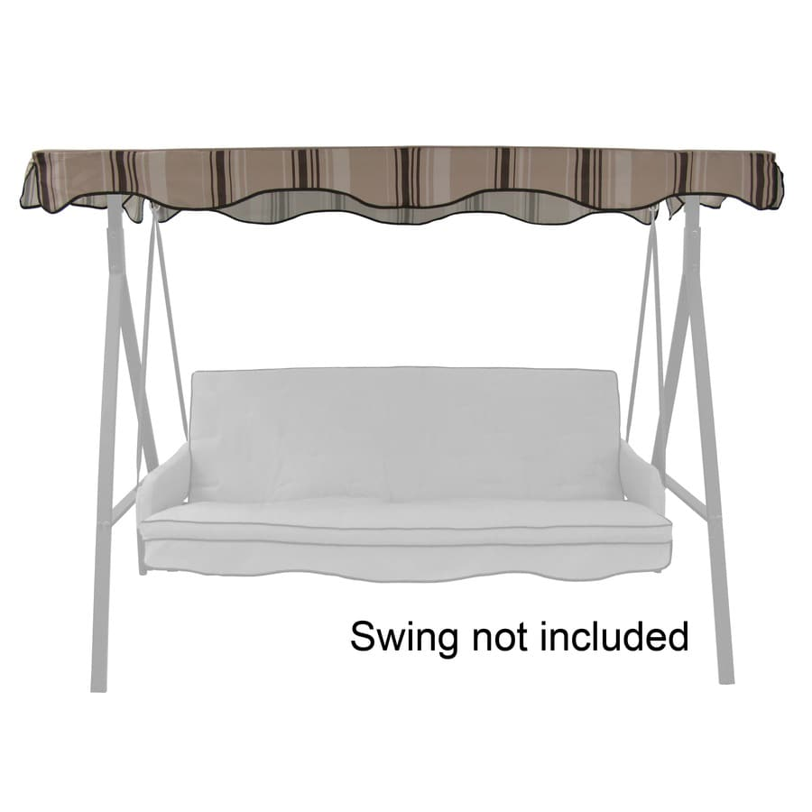 Garden Treasures Tan/Brown Steel 3-Person Replacement Top for Porch Swing or Glider  sc 1 st  Loweu0027s : replacement canopy for 3 person swing - memphite.com
