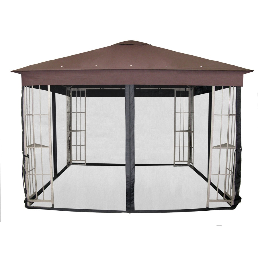 Shop garden treasures black gazebo insect net at - Build rectangular gazebo guide models ...