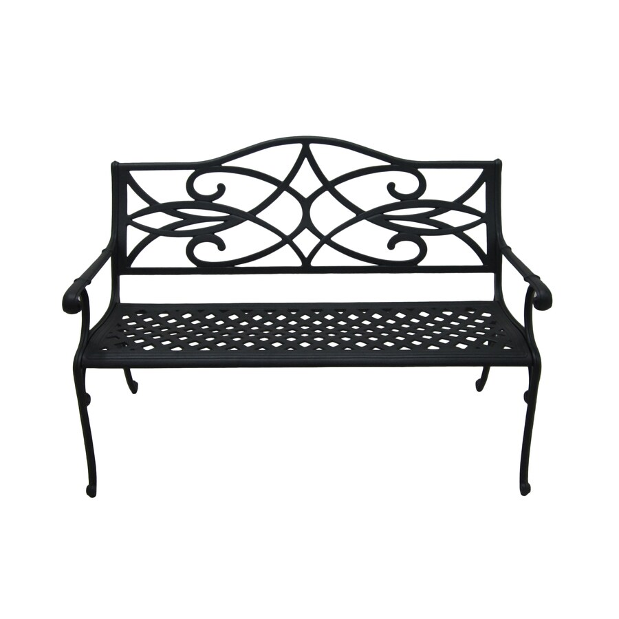 Genial Garden Treasures Waterbridge Place 35.5 In W X 51 In L Aluminum Patio Bench