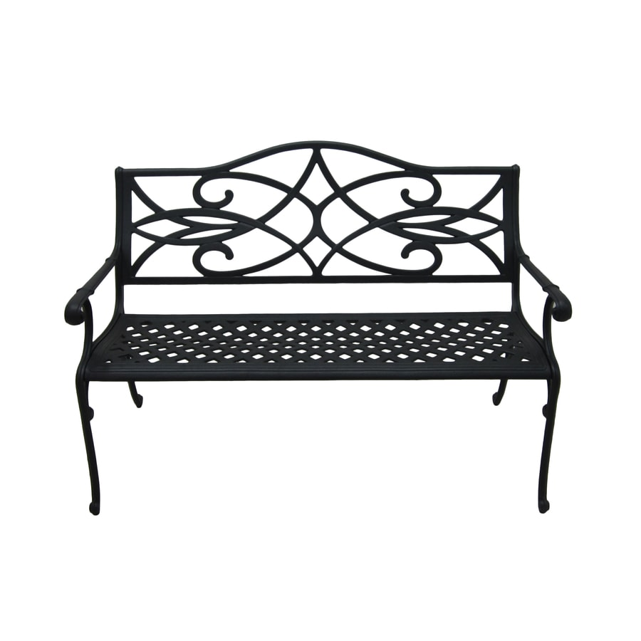 Garden Treasures Waterbridge Place 35.5 In W X 51 In L Aluminum Patio Bench