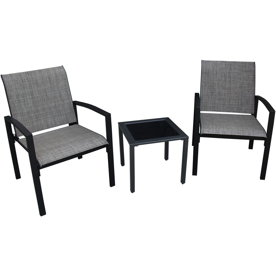 Apollo Outdoor Designs Galveston 3-Piece Steel Patio Conversation Set