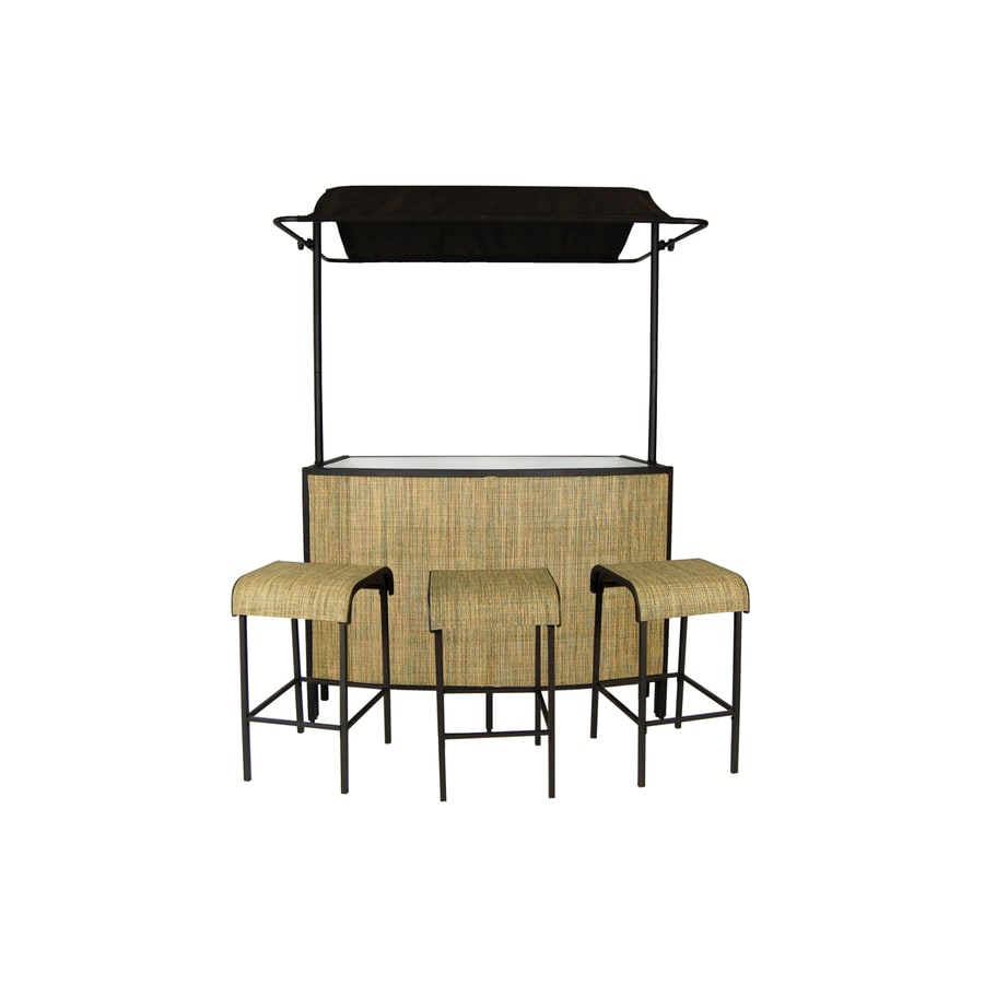 Apollo Outdoor Designs Del Mar Matte Brown Steel Patio Bar
