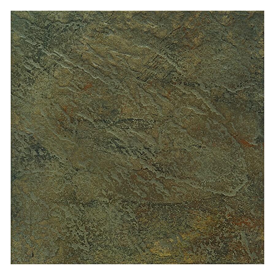 Interceramic 10 Pack Calcutta Slate Chennai Green Ceramic Indoor Outdoor Floor Tile Common