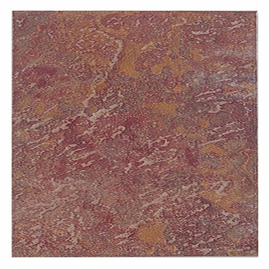 Interceramic 10-Pack Calcutta Slate Manali Red Ceramic Indoor/Outdoor Floor Tile (Common: 16-in x 16-in; Actual: 16-in x 16-in)