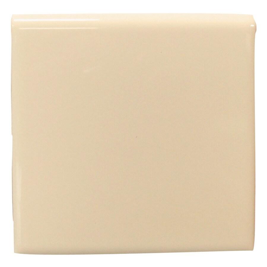 Interceramic Tender Tan Ceramic Bullnose Tile (Common: 4-in x 4-in; Actual: 4.24-in x 4.24-in)