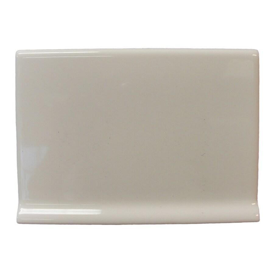 Interceramic Wall Tile Bone Ceramic Cove Base Tile (Common: 4-1/4-in x 6-in; Actual: 4.25-in x 6-in)