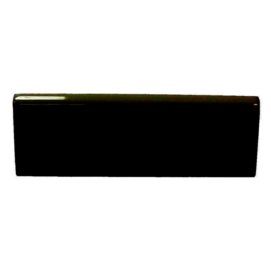 Interceramic Wall Tile Black Ceramic Bullnose Common 2 In X 6