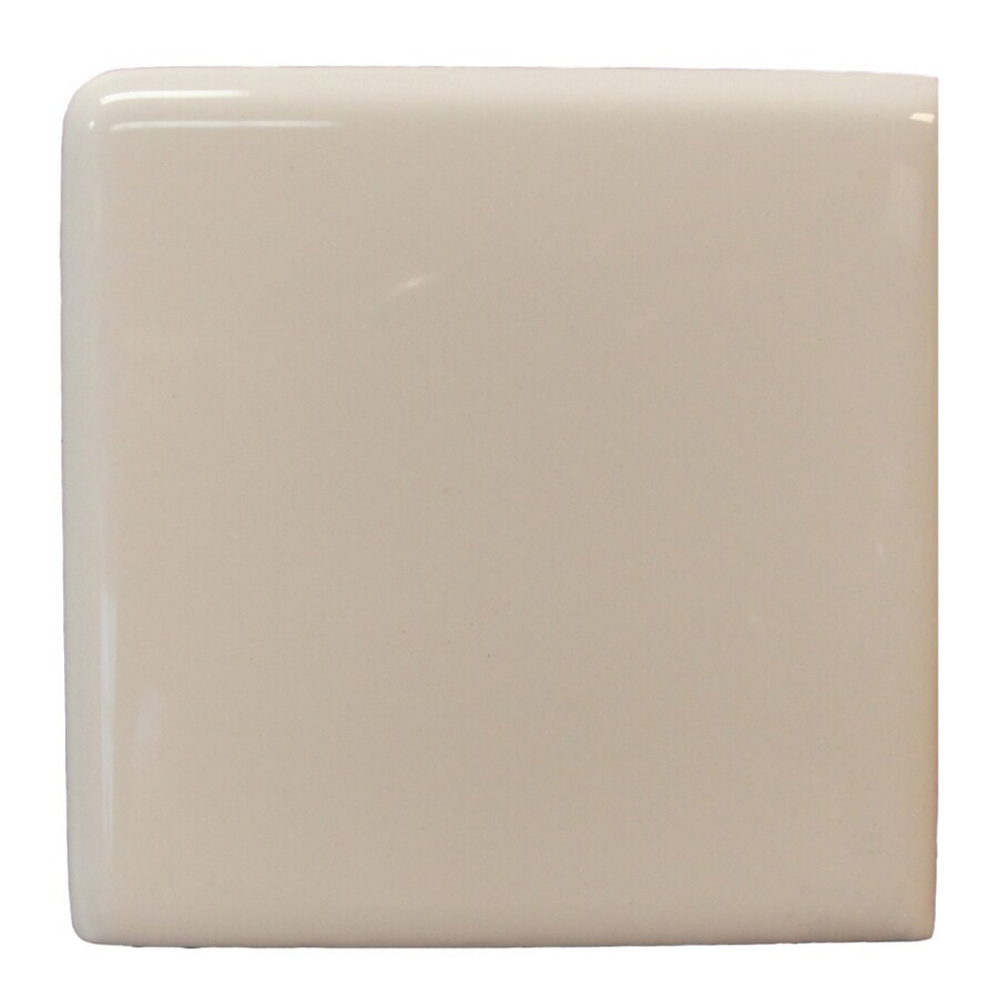 Shop Interceramic Wall Tile Bone Ceramic Bullnose Tile Common 4 In